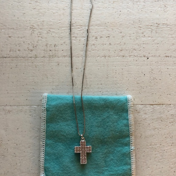 Swarovski Jewelry - Beautiful pink cross